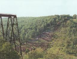 Kinzua Bridge in 2013. It blew down in 2003.